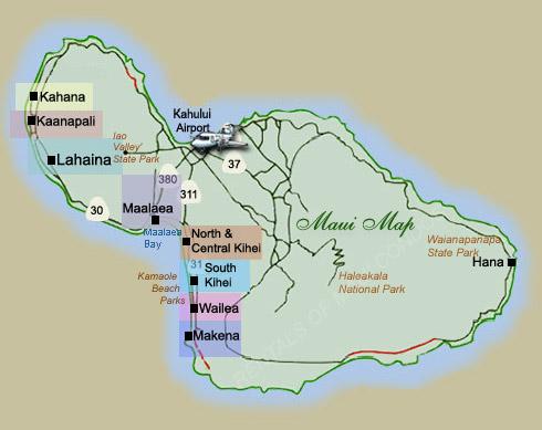 Maui And Kauai Maps Rentals Of Maui Condos Com